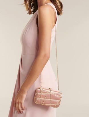 Forever New Stella Jewelled Clutch - Blush - 00