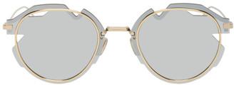 Christian Dior Gold DiorBreaker Sunglasses