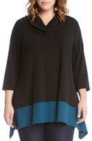 Karen Kane Plus Size Women's Colorblock Hem Sweater