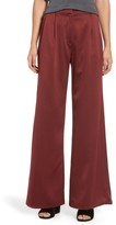 Leith Women's Wide Leg Satin Trousers