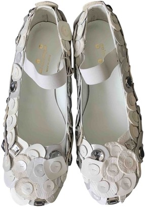 Comme des Garcons White Leather Ballet flats