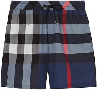 Burberry Checker Print Swim Shorts