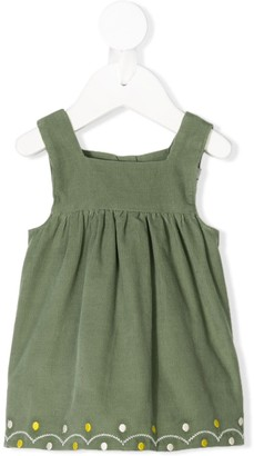 Knot Embroided pinafore