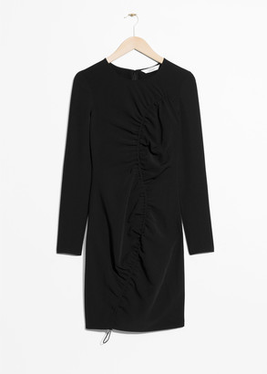 And other stories Drape Longsleeve Dress