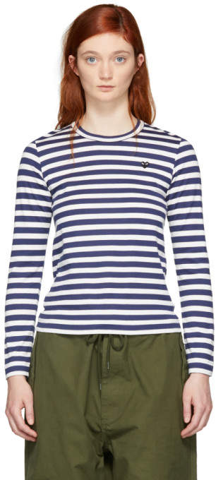 7b7df94df8 Comme Des Garcons Play Striped Tee - ShopStyle