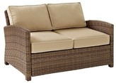 Crosley Bradenton Outdoor Wicker Loveseat with Sand Cushions