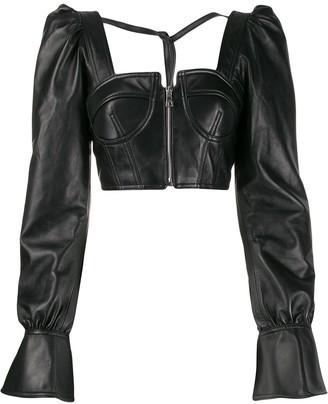Manokhi cropped corset blouse