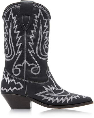 Isabel Marant Duerto Embroidered Leather Boots Size: 37