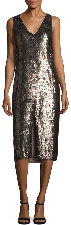 Alice + Olivia Women's Tyra Sequin Midi Dress