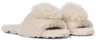 Aquazzura Exclusive to Mytheresa Foxy shearling and alpaca hair slides