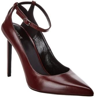 Celine Sharp Ankle Strap Leather Pump