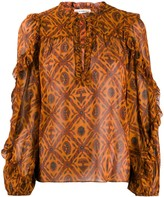 Ulla Johnson embroidered long-sleeve blouse
