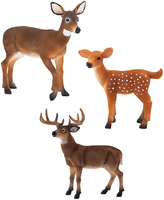 White-Tailed Deer Fawn, Buck & Doe Figurine Set