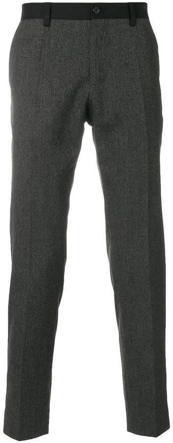 Dolce & Gabbana contrast trim tailored trousers