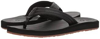 Quiksilver Carver Nubuck (Solid Black 2) Men's Sandals