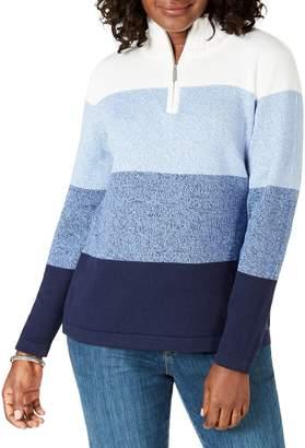 Karen Scott Petite Colourblocked Cotton Sweater