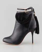Webster Sophia Kendall Leather Fringe Bootie