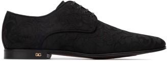 Dolce & Gabbana Jacquard Lace-Up Shoes