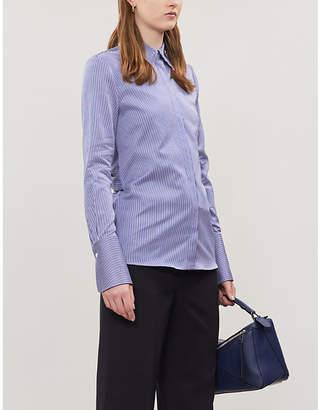 Victoria Victoria Beckham Bow-back striped cotton-poplin shirt
