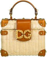 Dolce & Gabbana Natural Wicker Amore Box Bag