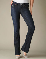 True Religion Womens Hand Picked Burgundy Sunset Flap Pocket Jean - (Lonestar)