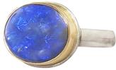 Jamie Joseph Oval Australian Black Opal Ring
