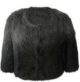 Yves Salomon cropped fur jacket