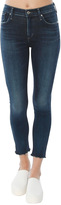 A Gold E Sophie High Rise Crop Skinny Jean With Raw Hem