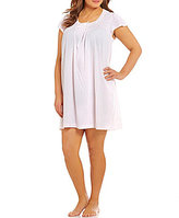 Miss Elaine Plus Silky-Knit Nightgown