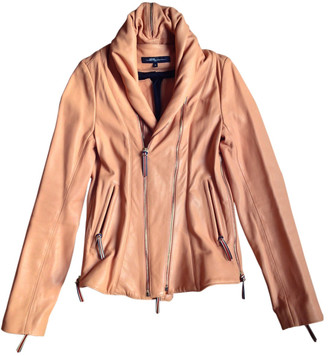 Jerome Dreyfuss Pink Leather Leather jackets