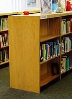 "Heller W.C. Double Face Shelf Standard Bookcase W.C. Finish: Spiced Walnut, Size: 42"" H x 36"" W x 20"" D"