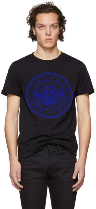 Balmain Black Coin Logo T-Shirt