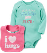 Carter's 2-Pc. I'm Adorable Cotton Bodysuit & Bib Set, Baby Girls (0-24 months)