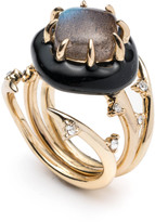Alexis Bittar Multi Spike Interlocking Ring Set