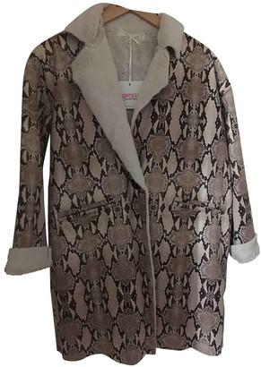 Non Signã© / Unsigned Oversize Beige Faux fur Coats