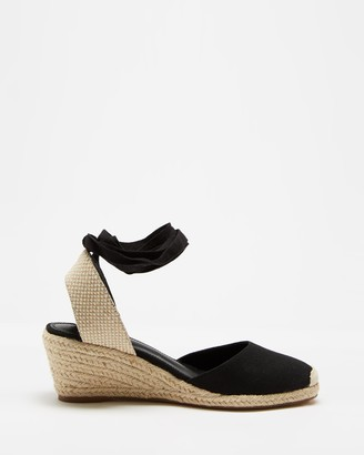 Spurr Women's Black Wedge Heels - Ingrid Wedges - Size 5 at The Iconic