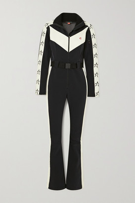 Perfect Moment Ryder Belted Two-tone Ski Suit - Black