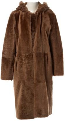 Yves Salomon Brown Shearling Coat for Women