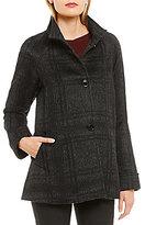 Katherine Kelly Alpaca-Blend Stand Collar A-Line Coat