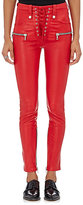 Ben Taverniti Unravel Project Women's Leather Skinny Pants-RED