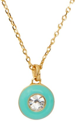 Kate Spade Candy Drops Mini Enamel & Crystal Round Pendant Necklace