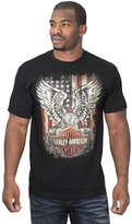 Harley-Davidson Mens Freedom Eagle B&S with Flag Short Sleeve T-Shirt - XL