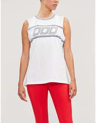 Lorna Jane Iconic Muscle sleeveless boxy-fit cotton-jersey top