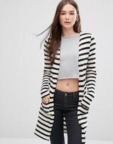 Only Longline Striped Cardigan