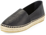 Kenzo Tiger Platform Leather Espadrille, Black (Noir)