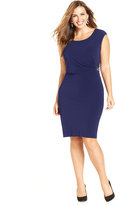 NY Collection Plus Size Side-Buckle Dress