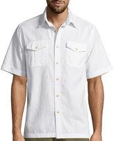 ST. JOHN'S BAY St. John's Bay Solid Crosshatch Shirt