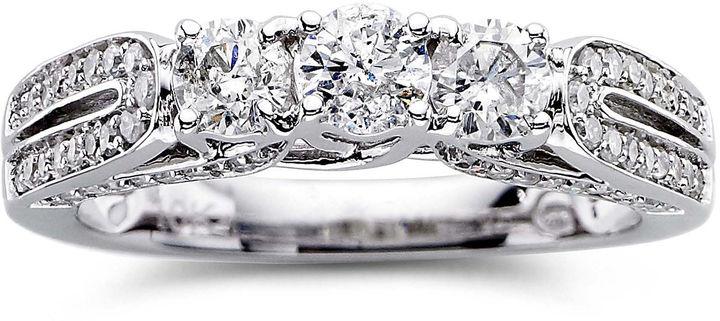 MODERN BRIDE Love Lives Forever 1 CT. T.W. Diamond 3-Stone Engagement Ring