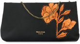 Paule Ka floral embroidered clutch