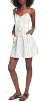 Lush Women's Button Front Linen & Cotton Dress